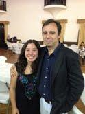 Valentina Jorquera y su Entrenador GM Rodrigo Vásquez